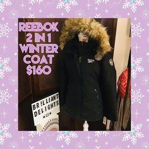 ❄️Reebok 2 in 1 winter parka coat women